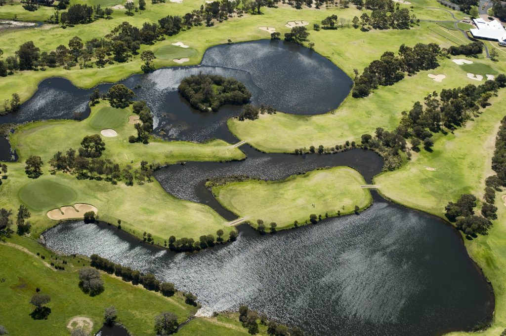 The 18-hole golf course is just outside your door